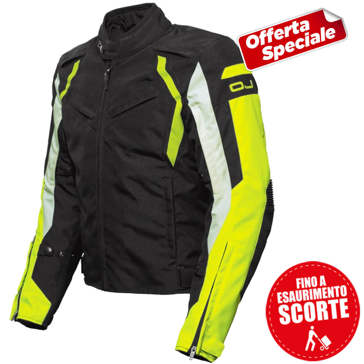 GIUBBINO LATITUDE BLACK YELLOW FLUO
